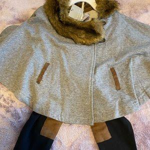 Fur Collard Cape & Matching Leggings